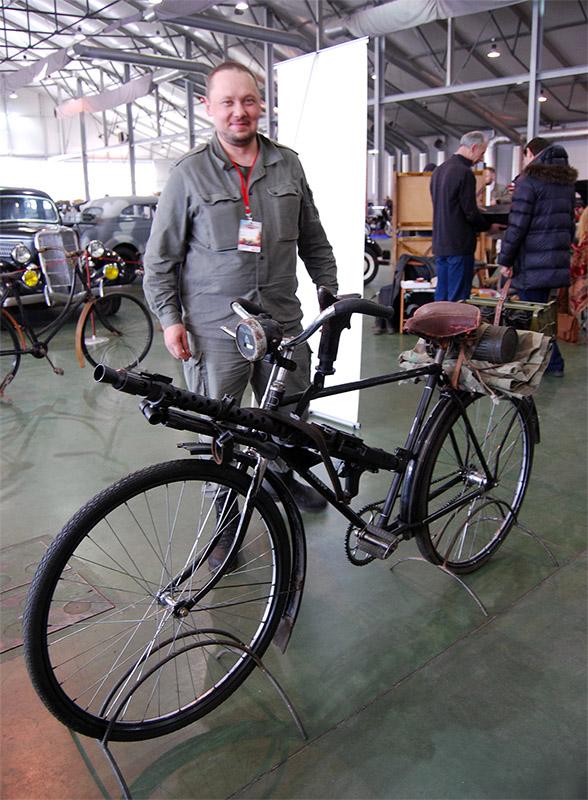 велосипед с пулеметом